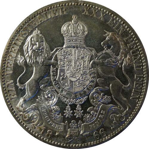 Rückseite:Deutschland : 1 Vereinstaler   1866 Stgl.