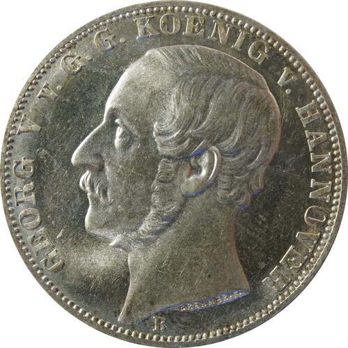 Vorderseite:Deutschland : 1 Vereinstaler   1866 Stgl.