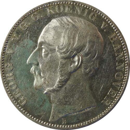 Vorderseite:Deutschland : 1 Vereinstaler  patina 1866 vz.