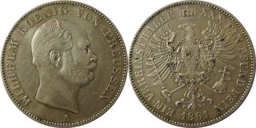 Lieferumfang:Deutschland : 1 Vereinstaler   1861 ss/vz.