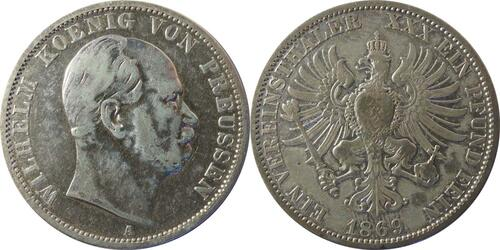 Lieferumfang:Deutschland : 1 Vereinstaler   1869 s/ss.