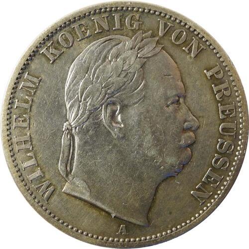 Vorderseite :Deutschland : 1 Vereinstaler   1866 f.ss