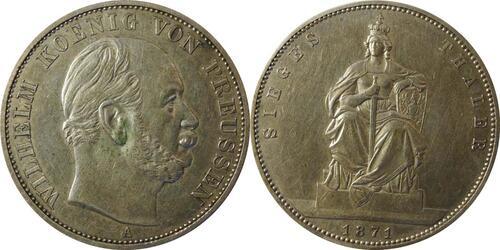 Lieferumfang :Deutschland : 1 Siegestaler   1871 ss.