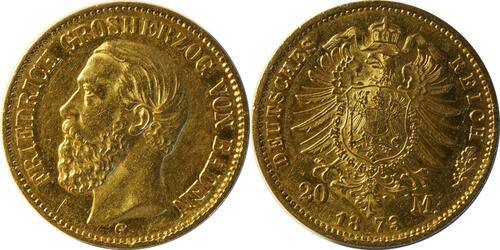 Lieferumfang :Deutschland : 20 Mark   1873 ss/vz.