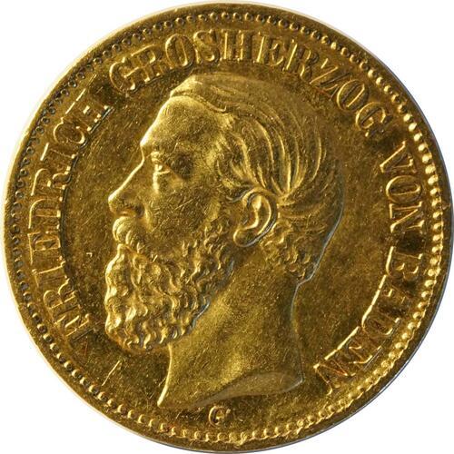Vorderseite :Deutschland : 20 Mark   1873 ss/vz.