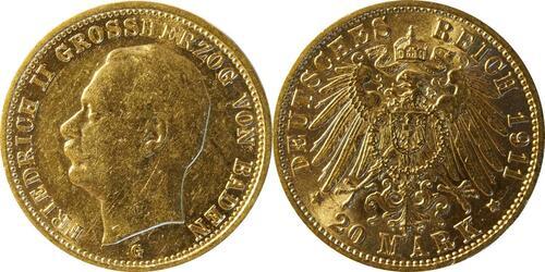 Lieferumfang :Deutschland : 20 Mark  winz. Rs. 1911 ss/vz.