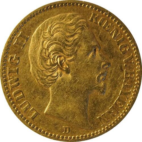 Vorderseite:Deutschland : 20 Mark   1873 f.ss