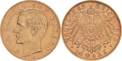Lieferumfang :Deutschland : 10 Mark   1893 ss/vz.