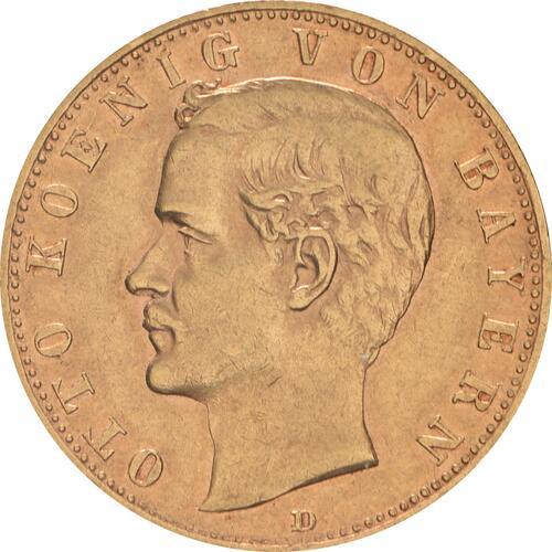 Vorderseite :Deutschland : 10 Mark   1893 ss/vz.