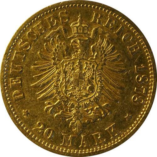 Rückseite:Deutschland : 20 Mark   1878 f.ss