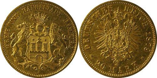 Lieferumfang:Deutschland : 20 Mark   1878 f.ss