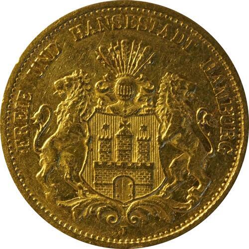Vorderseite:Deutschland : 20 Mark   1878 f.ss
