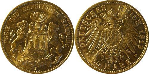 Lieferumfang:Deutschland : 20 Mark  winz. Kratzer 1913 vz/Stgl.