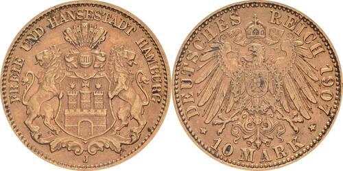 Lieferumfang:Deutschland : 10 Mark   1907 vz.