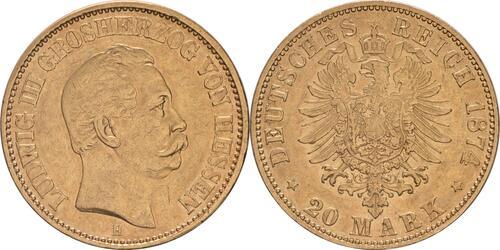 Lieferumfang :Deutschland : 20 Mark   1874 ss.