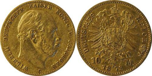 Lieferumfang :Deutschland : 10 Mark   1873 f.ss