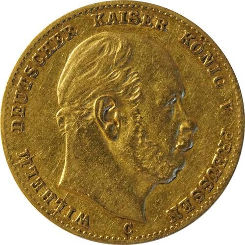 Vorderseite :Deutschland : 10 Mark   1873 f.ss
