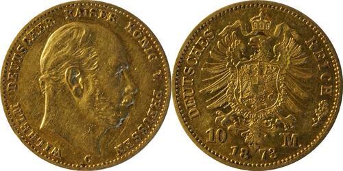 Lieferumfang:Deutschland : 10 Mark  winz. Rs. 1873 ss.