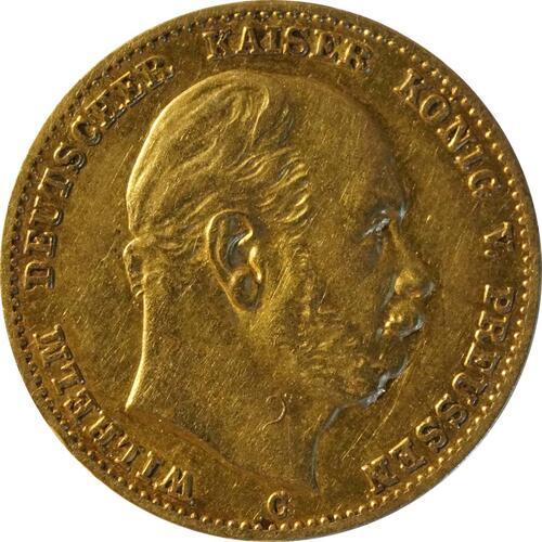 Vorderseite:Deutschland : 10 Mark  winz. Rs. 1873 ss.