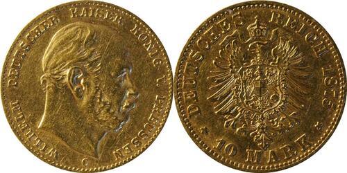 Lieferumfang :Deutschland : 10 Mark   1875 ss.