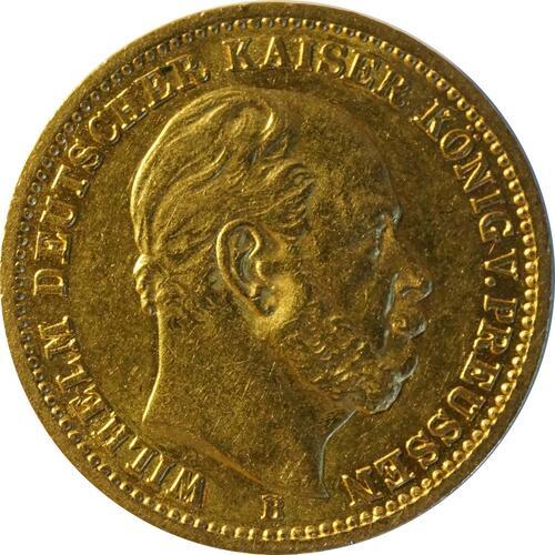 Vorderseite:Deutschland : 20 Mark   1873 ss/vz.