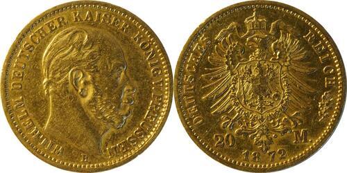 Lieferumfang :Deutschland : 20 Mark   1872 ss.