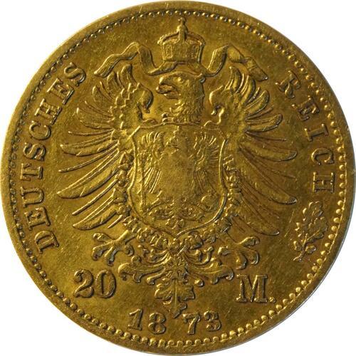 Rückseite:Deutschland : 20 Mark   1873 ss.