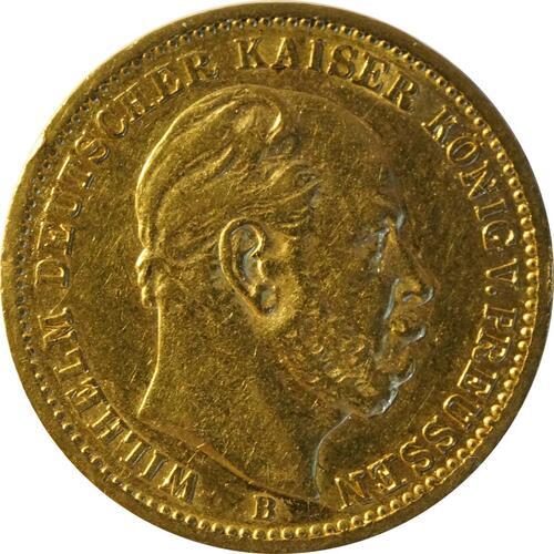 Vorderseite:Deutschland : 20 Mark  Rs. 1873 ss.
