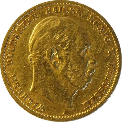 Vorderseite:Deutschland : 10 Mark  winz. Rs. 1875 ss/vz.