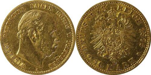 Lieferumfang :Deutschland : 10 Mark  winz. Kratzer 1875 ss.