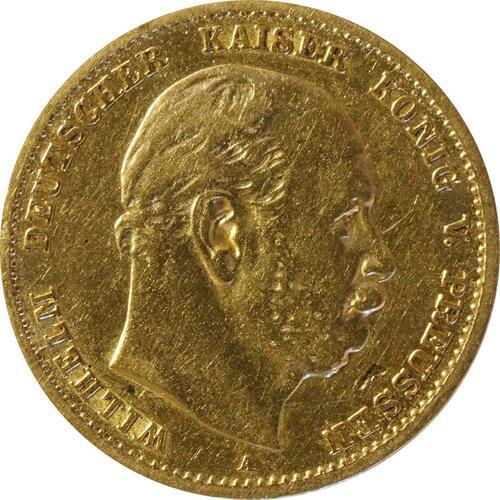 Vorderseite :Deutschland : 10 Mark  winz. Kratzer 1875 ss.