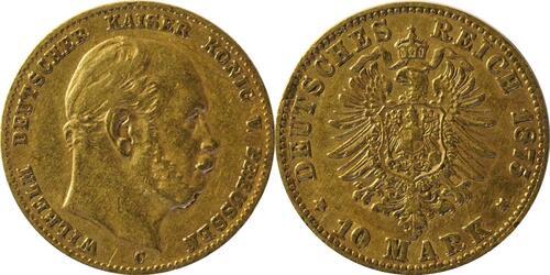 Lieferumfang:Deutschland : 10 Mark  winz. Kratzer 1875 ss.