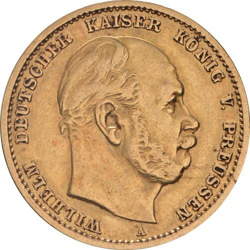 Vorderseite:Deutschland : 10 Mark  winz. Kratzer 1878 ss/vz.