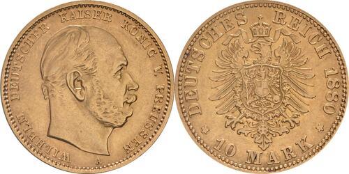 Lieferumfang:Deutschland : 10 Mark   1880 ss/vz.
