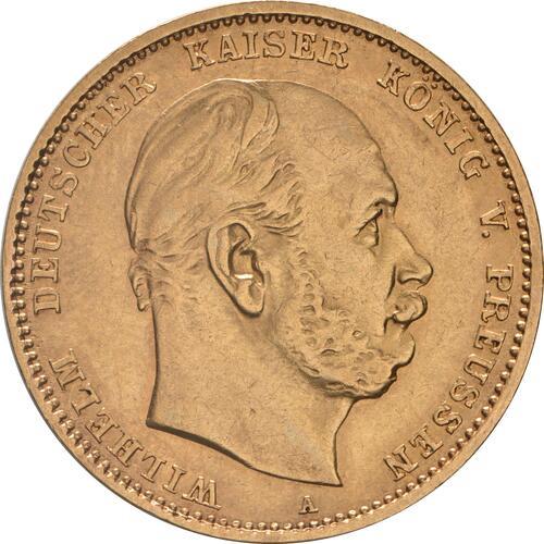 Vorderseite :Deutschland : 10 Mark   1880 ss/vz.