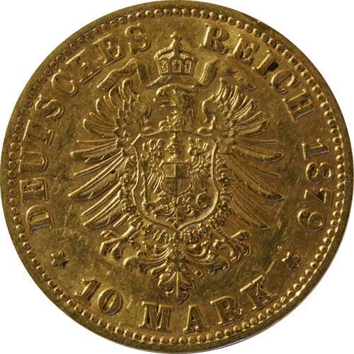 Rückseite:Deutschland : 10 Mark   1879 ss.