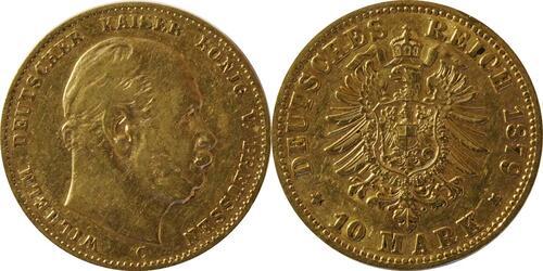 Lieferumfang:Deutschland : 10 Mark   1879 ss.