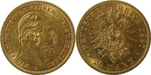 Lieferumfang:Deutschland : 20 Mark   1887 vz.