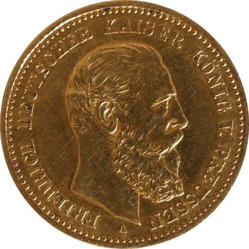 Vorderseite:Deutschland : 10 Mark Friedrich  1888 ss/vz.