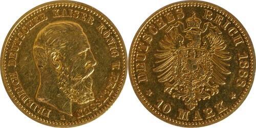 Lieferumfang:Deutschland : 10 Mark Friedrich  1888 ss.
