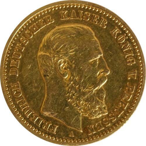 Vorderseite:Deutschland : 10 Mark Friedrich  1888 ss.