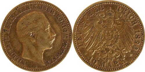 Lieferumfang:Deutschland : 10 Mark   1890 ss.
