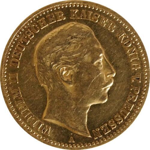 Vorderseite :Deutschland : 10 Mark   1896 ss/vz.
