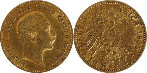 Lieferumfang:Deutschland : 10 Mark   1905 ss/vz.