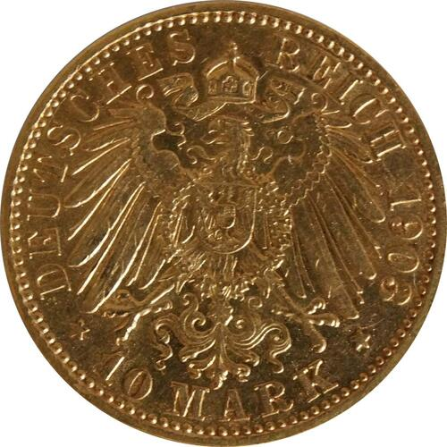Rückseite:Deutschland : 10 Mark  winz. Rs. 1903 ss/vz.