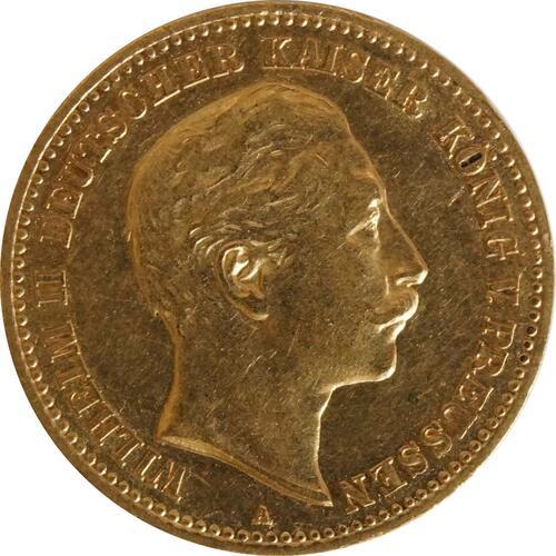 Vorderseite:Deutschland : 10 Mark  winz. Rs. 1903 ss/vz.