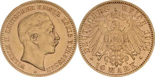 Lieferumfang:Deutschland : 10 Mark   1904 vz/Stgl.