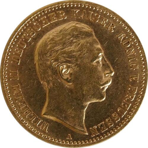 Vorderseite:Deutschland : 10 Mark   1906 vz/Stgl.
