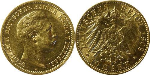 Lieferumfang:Deutschland : 10 Mark   1909 vz/Stgl.