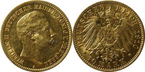 Lieferumfang:Deutschland : 10 Mark  winz. Kratzer 1910 vz.